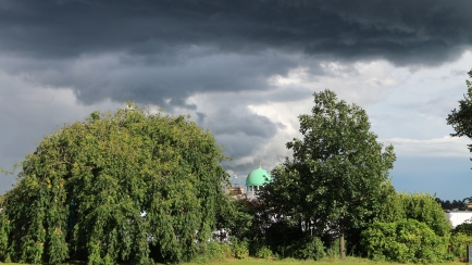 Beautiful storm clouds above the mosque