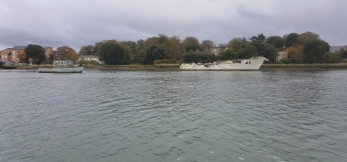 View up the Itchen river
