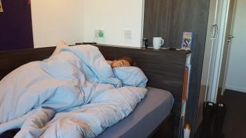 Rob sleeping