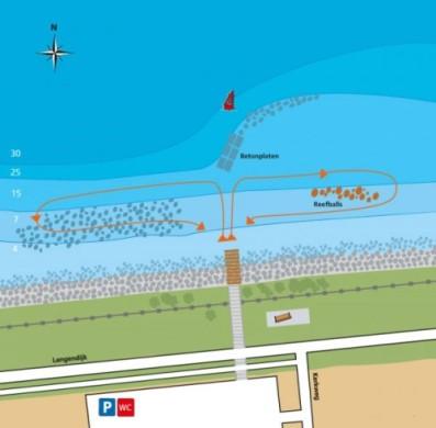 Den Osse Nieuwe Kerkweg - dive map